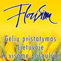 """Gėlių salonų tinklas """"FLORISIMA"""" – originalios gėlių puokštės, daug geros kokybės skintų ir vazoninių gėlių, didelis pasirinkimas dirbtinių augalų, vazonų ir floristinių aksesuarų"""