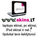 """Skins.lt - nešiojamųjų bei asmeninių kompiuterių, """"iPod"""" ir šaldytuvų skinai"""