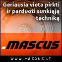 MASCUS.LT - geriausia vieta pirkti ir parduoti sunkiąją techniką