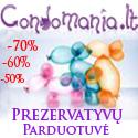 Condomania.lt – internetinė prezervatyvų parduotuvė
