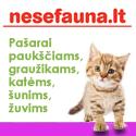 """""""Nesė Fauna"""" – pašarai šunims, katėms, žuvims, paukščiams, graužikams"""