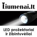 LED prožektoriai ir žibintuvėliai LIUMENAI.LT